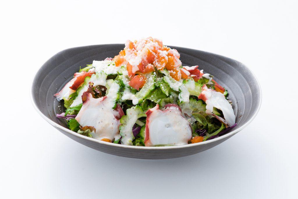 タコと島野菜のシーザーサラダ